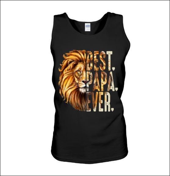 Lion best papa ever tank top