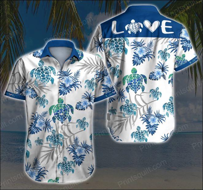 Love turtle hawaiian shirt