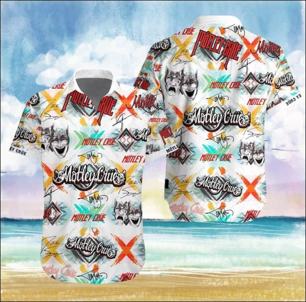 Mötley Crüe band Hawaiian 3D shirt