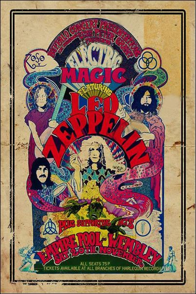 Magic featuring Led Zeppelin poster