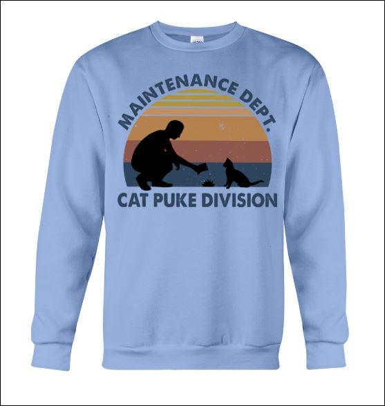 Maintenance dept cat puke division sweater