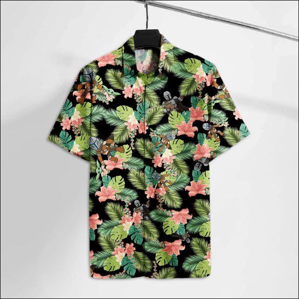 Mandalorian and Baby Yoda hawaiian shirt