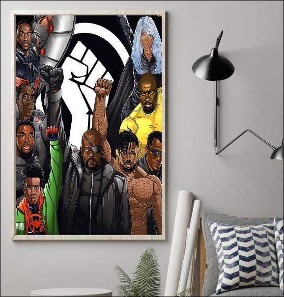 Marvel heroes black lives matter poster 1