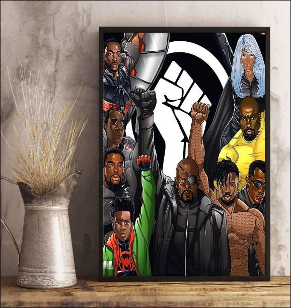Marvel heroes black lives matter poster 3