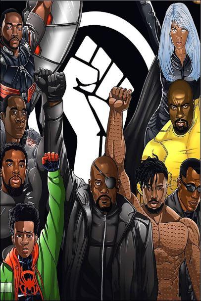 Marvel heroes black lives matter poster