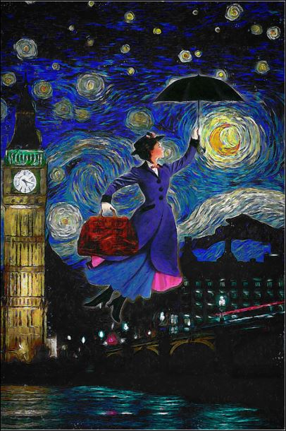 Mary Poppins art poster