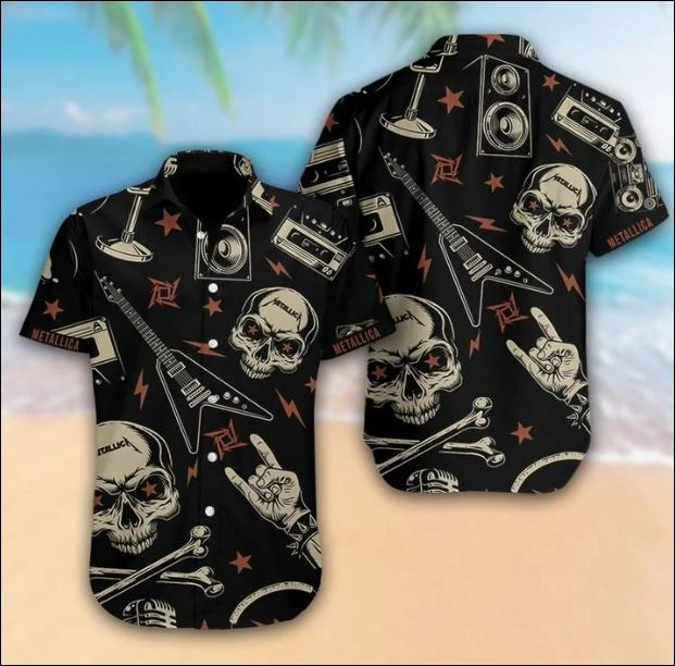 Metallica black skull hawaiian shirt