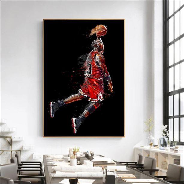 Michael Jordan art poster 1