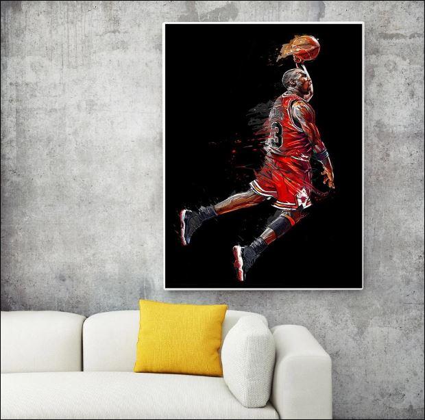 Michael Jordan art poster