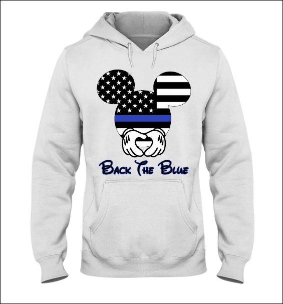 Mickey Mouse black the blue hoodie