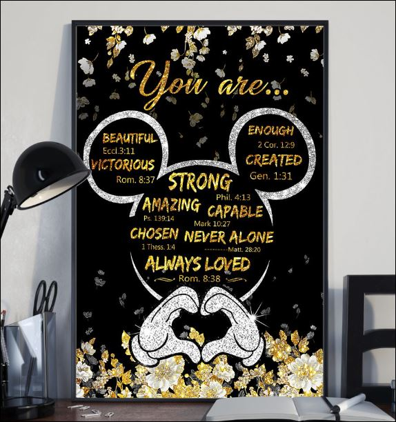 Mickey mouse you are beautiful victorious enough created poster 1