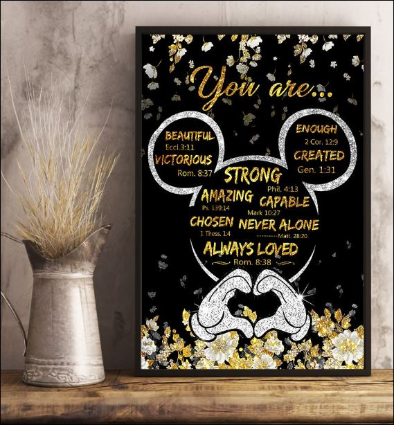 Mickey mouse you are beautiful victorious enough created poster 2