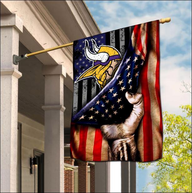 Minnesota Vikings American flag