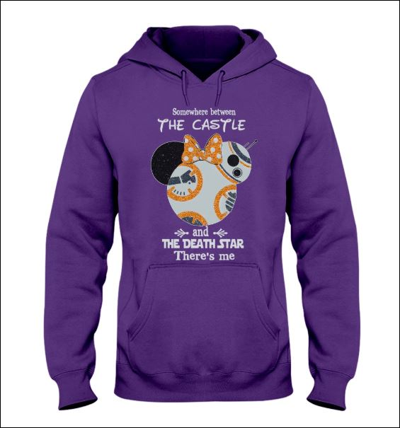 Minnie mouse somewhere between the castle and the death star there's me hoodie