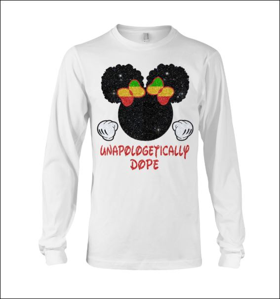 Minnie mouse unapologetically dope long sleeved