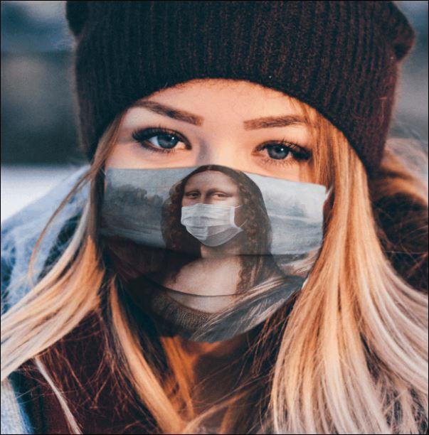 Mona Lisa face mask