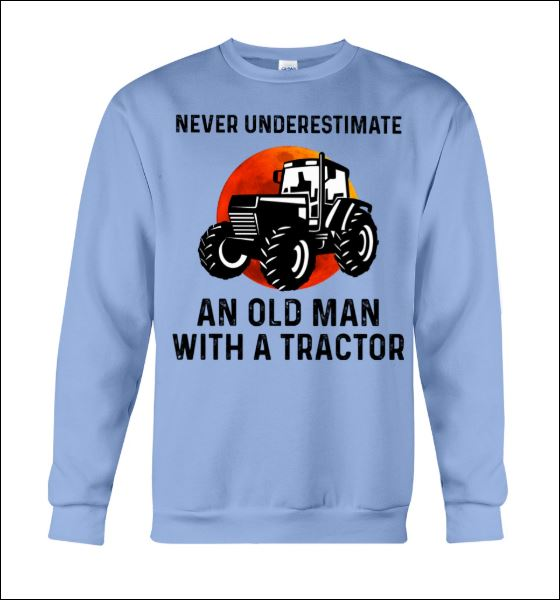 Never underestimate an old man with a tractor sweater