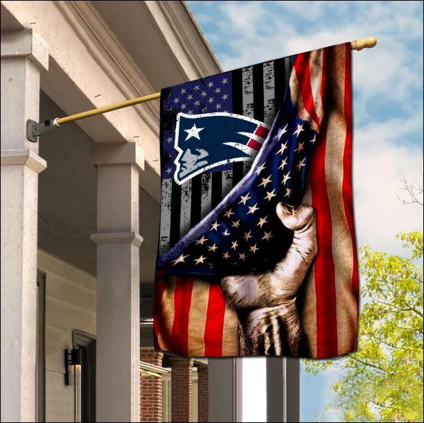 New England Patriots American flag
