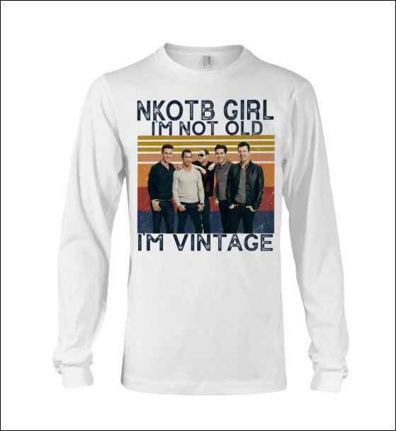 Nkotb girl i'm not old i'm vintage long sleeved