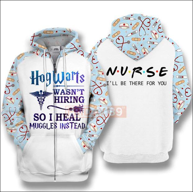 Nurse Hogwarts wasn't hiring so i heal muggles instead 3D zip hoodie