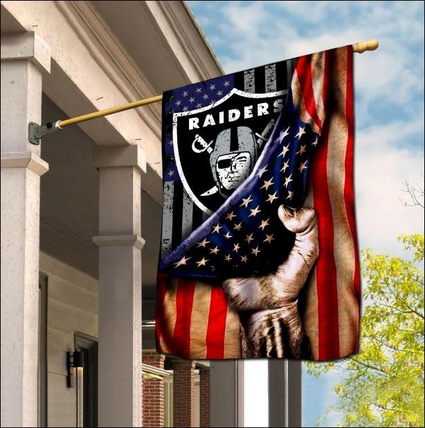 Oakland Raiders American flag