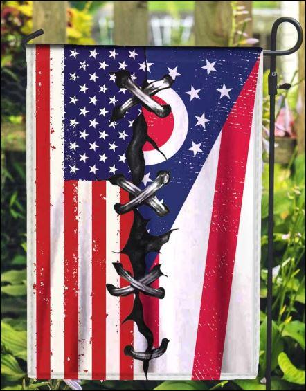 Ohio and American flag