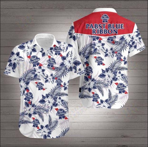 Pabst Blue Ribbon Hawaiian 3D Shirt