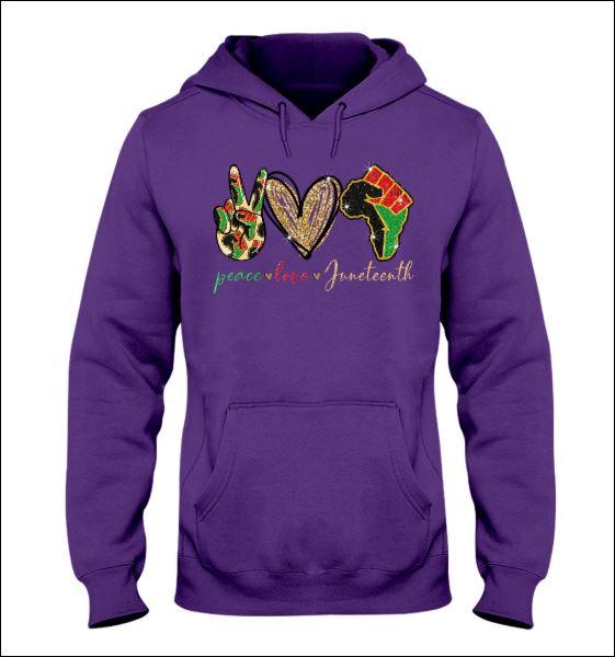 Peace love juneteeth hoodie