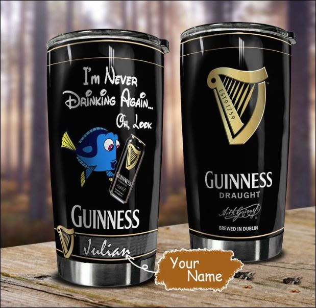Personalized Dory i'm never drinking again oh look Guinness tumbler