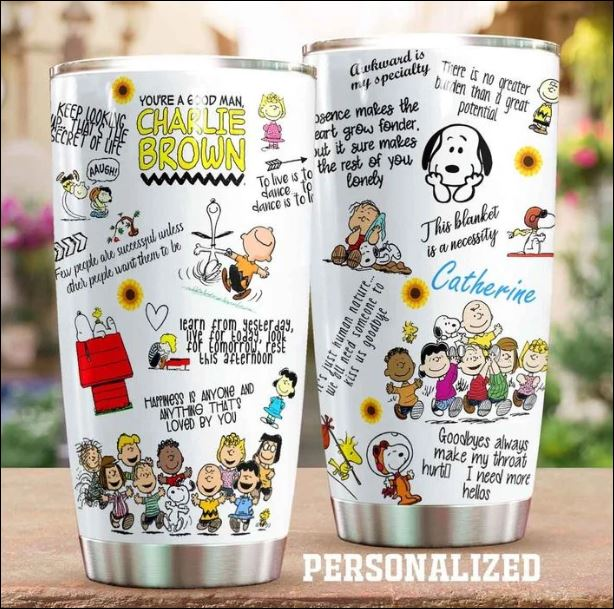 Personalized Snoopy the Gang tumbler