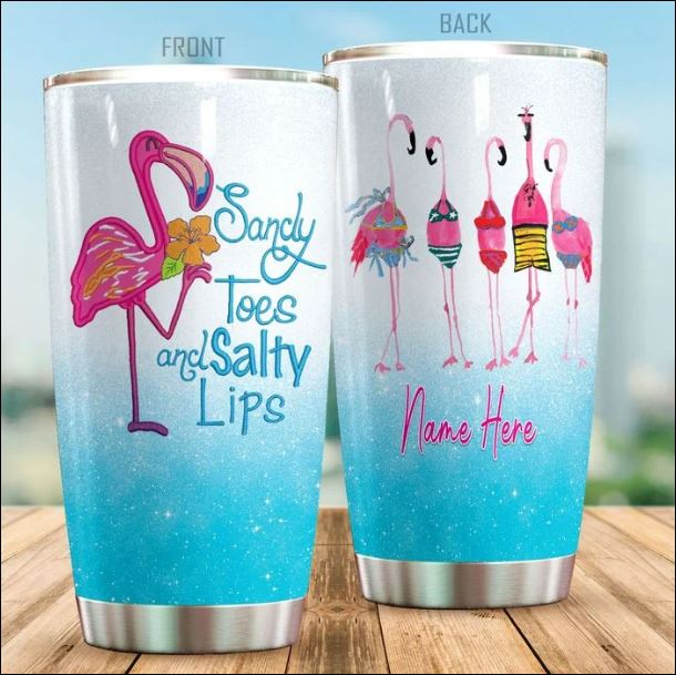Personalized sandy toes and salty lips tumbler