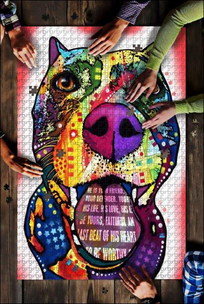 Pitbull graffiti jigsaw puzzles