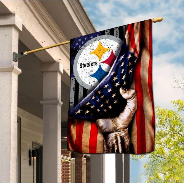 Pittsburgh Steelers American flag