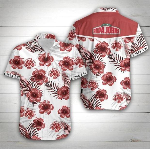 Pizza Papa John's hawaiian shirt