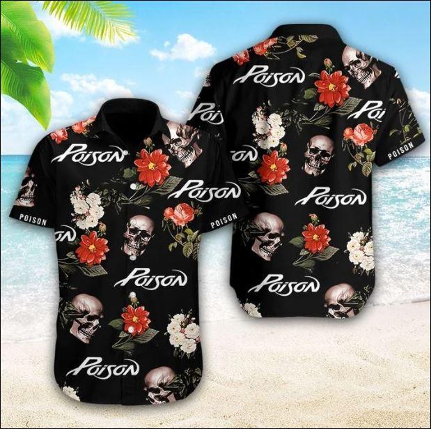 Poison band hawaiian shirt