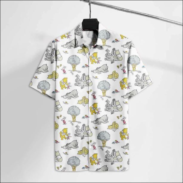 Pooh and Friends character hawaiian shirt