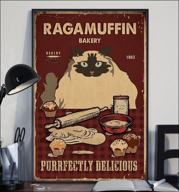 Ragamuffin bakery purrfectly delicious poster 2