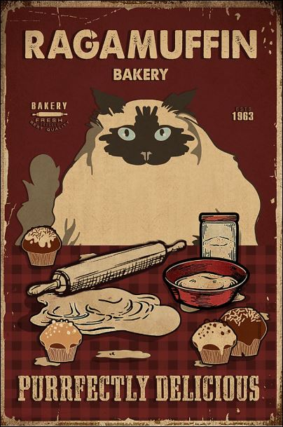 Ragamuffin bakery purrfectly delicious poster