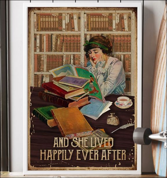 Reading book and she lived happily ever after poster 2
