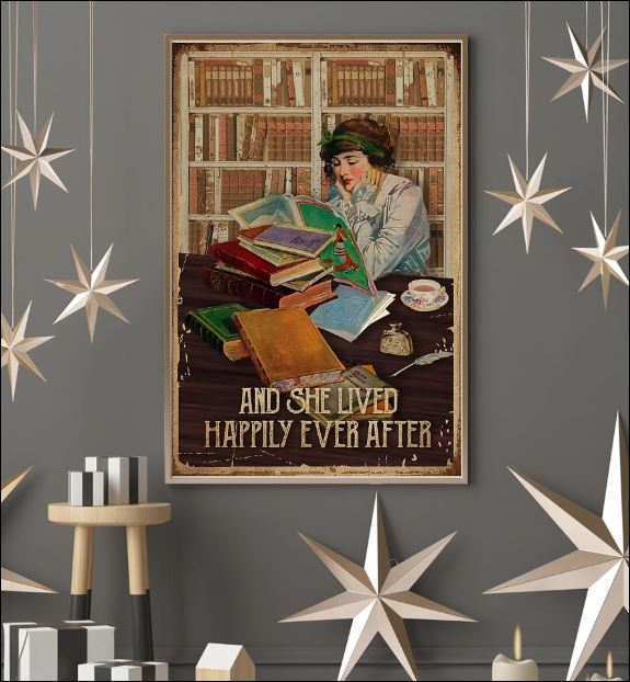 Reading book and she lived happily ever after poster 3
