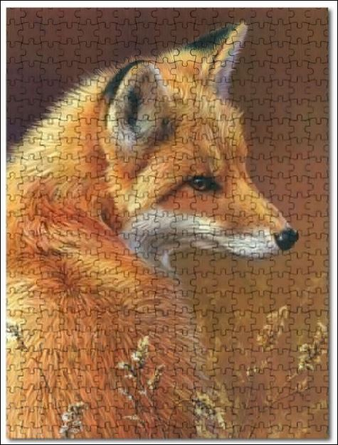 Red fox Art jigsaw puzzles