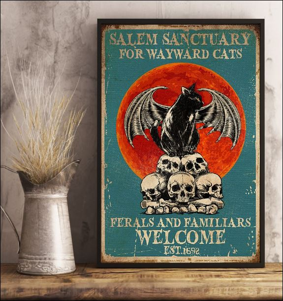 Salem sanctuary for wayward cats ferals and familiars welcome poster 3