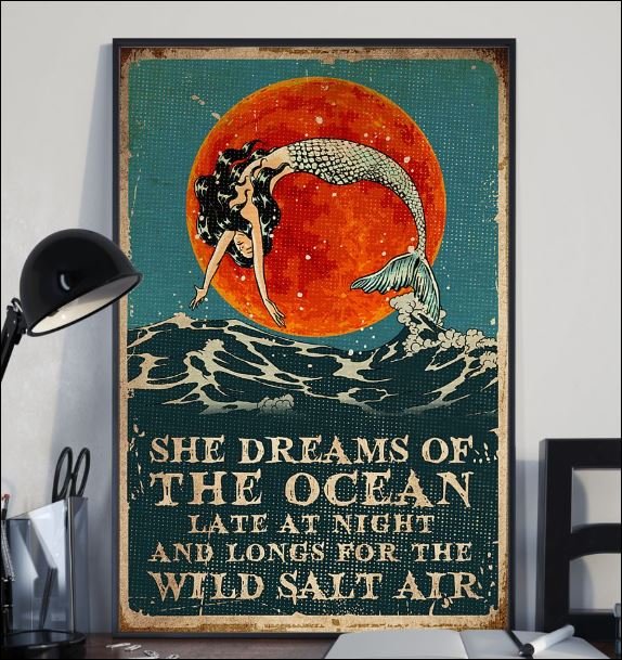 She dreams of the ocean late at night and longs for wild salt air poster 2