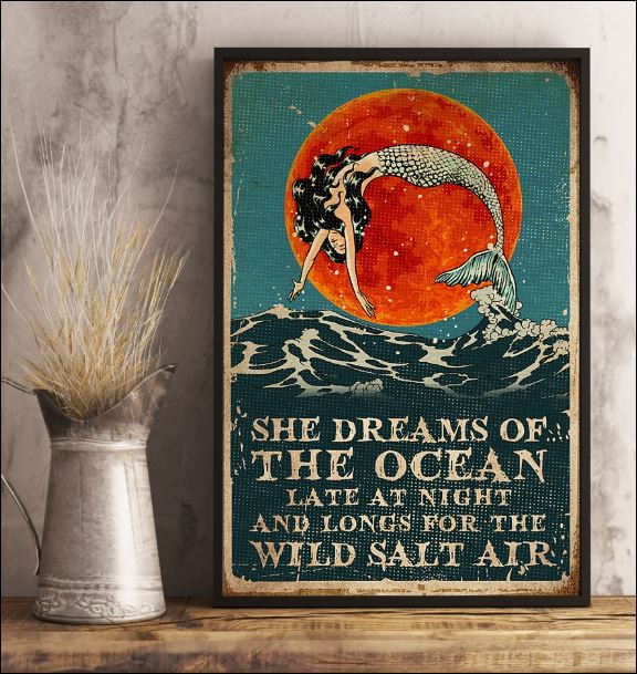 She dreams of the ocean late at night and longs for wild salt air poster 3