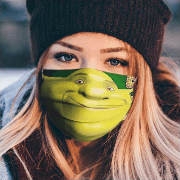 Shrek cartoon face mask
