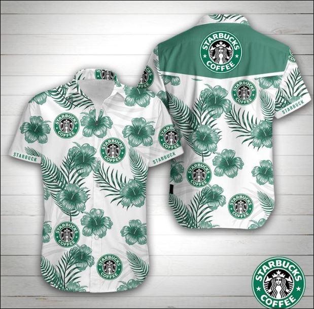 Starbucks coffee hawaiian shirt