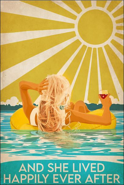 Swimming Blonde and she lived happily ever after poster