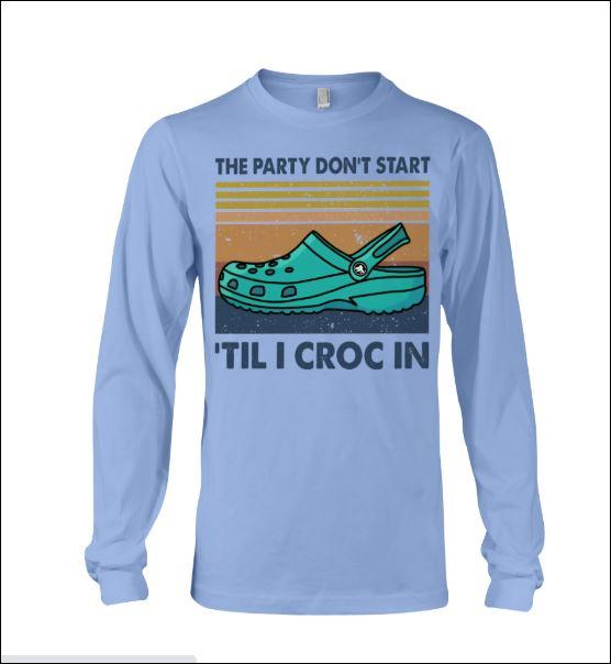 The party don't start 'til i croc in vintage long sleeved
