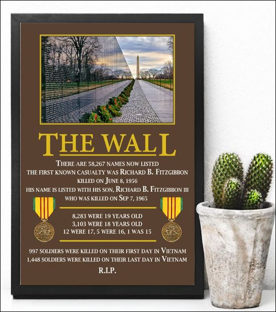 The wall there are 58267 names now listed poster 3
