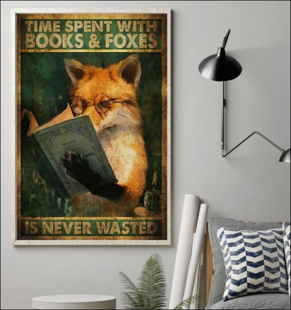 Time spent with books and foxes is never wasted poster 1